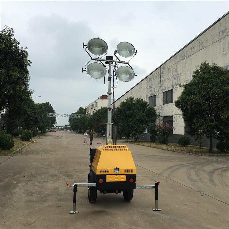 移动照明车的气动升降杆的分类
